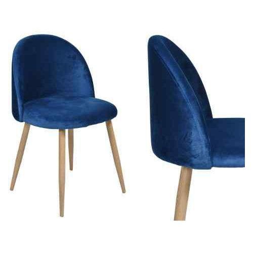 Krzesło tapicerowane jazz - granatowe marki Gockowiak