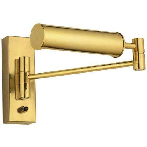 Kinkiet LAMPA ścienna ROTTO I 598 Amplex regulowana OPRAWA metalowa listwa na wysięgniku art deco złota