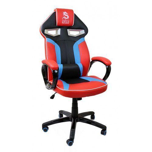 Fotel obrotowy gamingowy dla gracza Dragon Red/Blue/Black, Dragon Red/Blue/Black