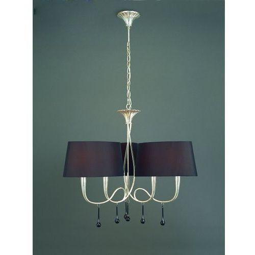 Lampa wisząca paola 6l srebrna z czarnymi abażurami od ręki!, 3530 marki Mantra