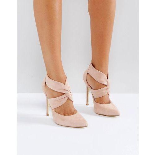 cross over back zip point high heels - copper marki London rebel