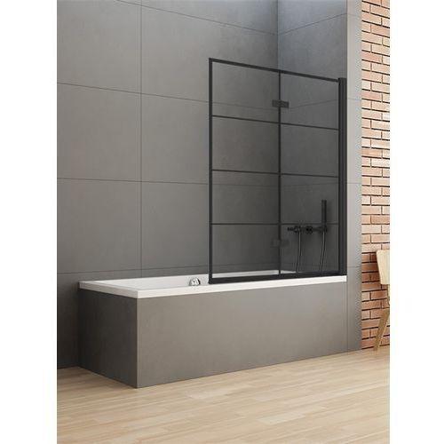 Parawan wannowy 100x140 P-0050 New Soleo Black New Trendy (5902276333453)
