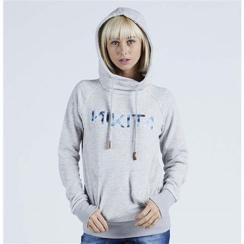 bluza NIKITA - Reykjavik Solid Po Hoody Ghost Grey (GHO) rozmiar: M, kolor szary