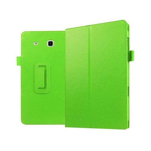 Zielone etui skórzane PU Stand Cover Galaxy Tab E 9.6 T560 - Zielony