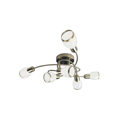 Plafon lampa sufitowa oprawa spot Rabalux Elite 6x40W E14 mosiądz / biały 5974 (5998250359748)