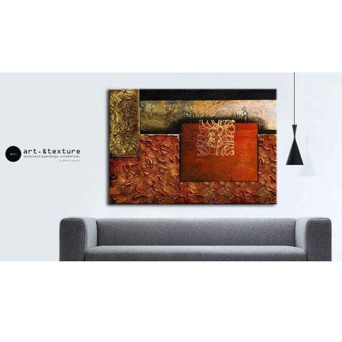 Obraz ręcznia malowany na płótnie galeryjnym KOLORY ZIEMI 70x100cm