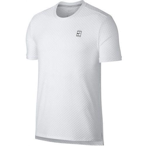 Nike męska koszulka sportowa M NKCT Top SS Checkered BL White Black L, kolor biały