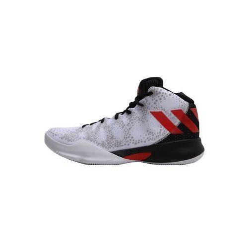 adidas Performance CRAZY HEAT Obuwie do koszykówki white/scarle/black