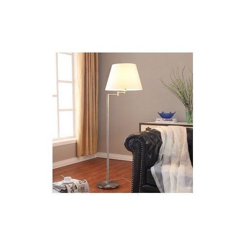 Atrakcyjna lampa stojąca POLA z białym abażurem - produkt z kategorii- Lampy stojące