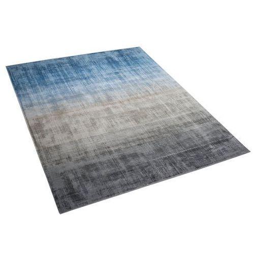 Dywan szaro/niebieski 140 x 200 cm krótkowłosy ercis marki Beliani