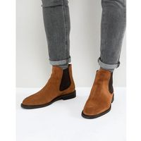 Selected Homme Suede Chelsea Boots - Brown