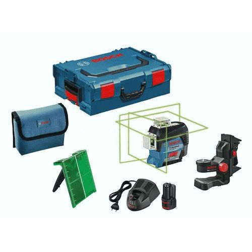 Laser liniowy Bosch GLL 3-80 CG +LR7+BM1+tyczka+L-Boxx