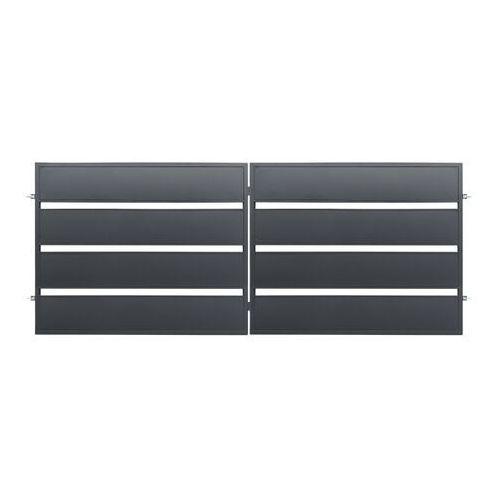 Polbram steel group Brama dwuskrzydłowa leda 400 x 158 cm ocynk antracyt (5901122311034)