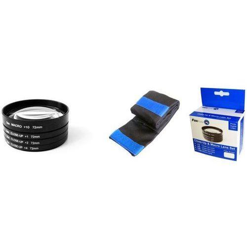 Foxfoto  zestaw soczewek makro +1, +2, +4, +10 dioptrii 72mm