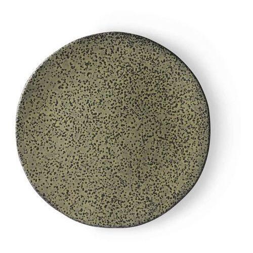 HK Living Ceramika gradientowa: talerz obiadowy zielony ACE6894, ACE6894