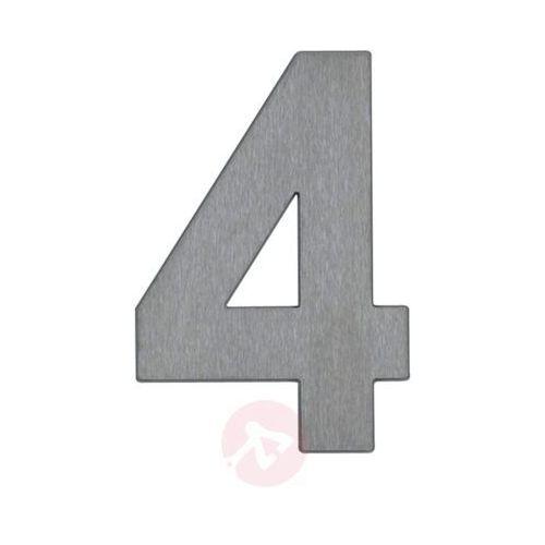 Numer domu 4 ze stali szlachetnej marki Albert leuchten