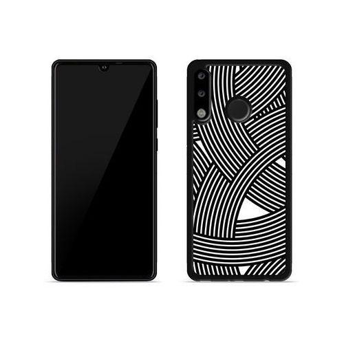 Etuo aluminum fantastic Huawei p30 lite - etui na telefon aluminum fantastic - biało-czarna mozaika