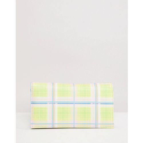 ASOS DESIGN fold over purse in summer check - Multi