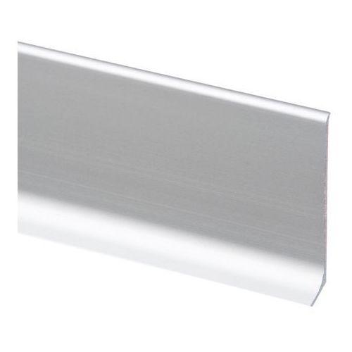 Listwa przypodłogowa aluminiowa Cezar LP59 2 5 m srebrna, W-AL-LP59CA-C0-250