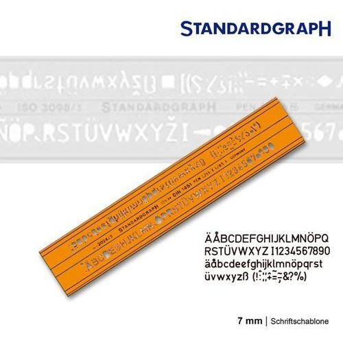 Szablony techniczne Szablon literowy h-profil prosty 7mm x1