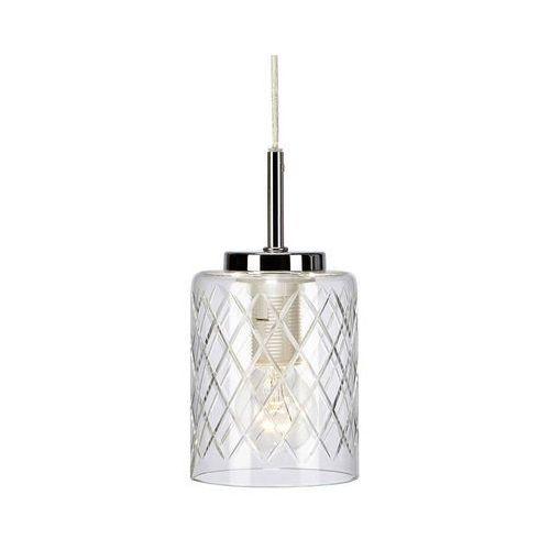 Markslojd Szklana lampa wisząca layney 107050 modernistyczna oprawa zwis wzorki tuba przezroczysta (7330024571716)