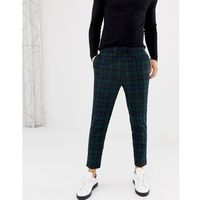 New Look slim fit smart joggers in navy check - Navy