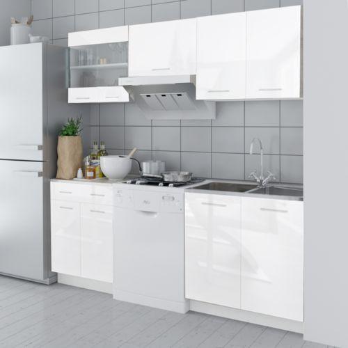 Vidaxl  meble kuchenne białe na wysoki połysk 5 elementów (200 cm) (8718475910107)