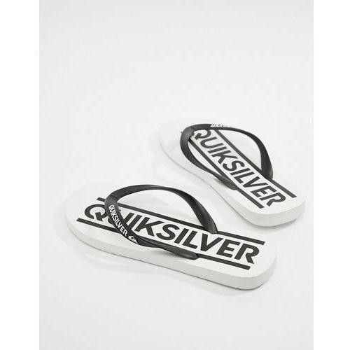 Quiksilver java woodmark logo flip flop in white - white