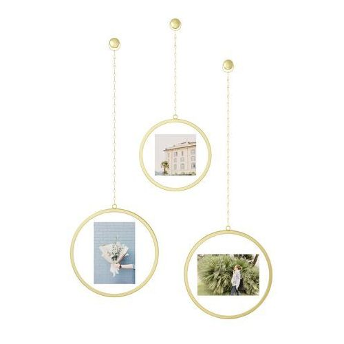 Ramka na zdjęcia fotochain circular brass 3 szt. marki Umbra