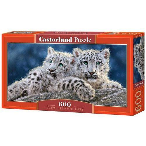 Castor Puzzle 600 panoramiczne:snow leopard cubs (5904438060115)