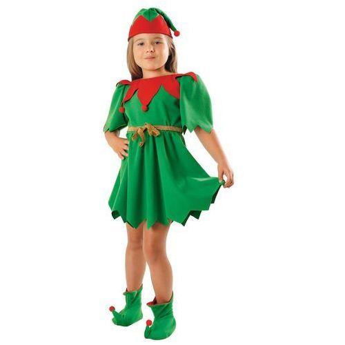 Kostium Elf Zielony sukienka - L - 134/140 cm, kolor zielony