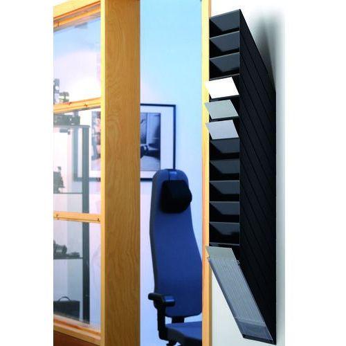 Durable Flexiboxx a4 12 pionowych pojemników na dokumenty, kolor czarny (7318089763062) - OKAZJE