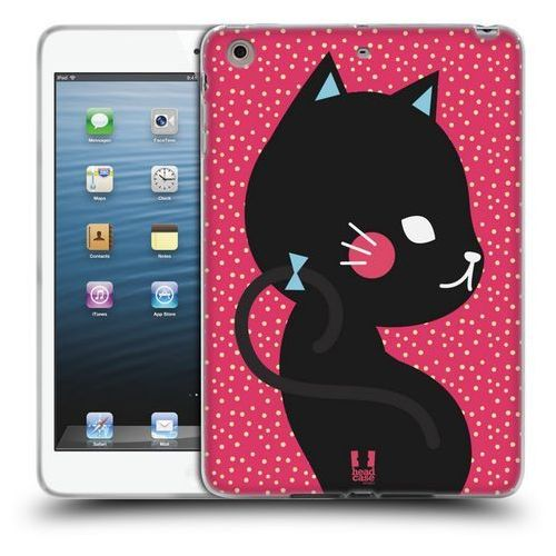 Etui silikonowe na tablet - cats and dots black cat in pink marki Head case