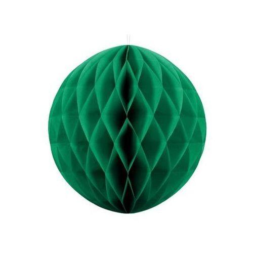 Dekoracja wisząca kula szmaragdowozielona - 40 cm - 1 szt.