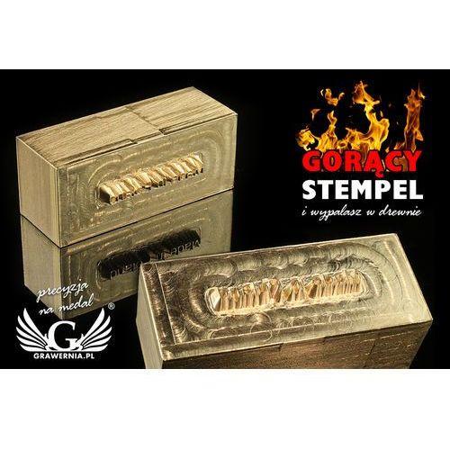 Grawernia.pl - grawerowanie i wycinanie laserem Stempel do wyciskania logotypu na gorąco i zimno - wymiary matrycy: 36x15mm - cnc