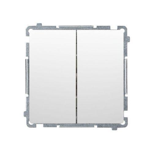 Kontakt simon Simon basic łącznik świecznikowy z podświetleniem (moduł) 10ax, 250v~, szybkozłącza; satynowy bmw5l.01/29 wmul-051xxx-h011 (5902787814113)