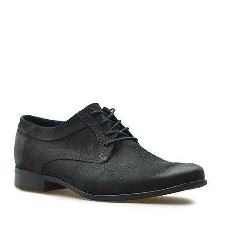 Pantofle 7771 czarne nubuk, Badura