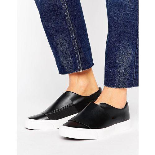 New Look Wide Band Minimal Slip On Trainer - Black