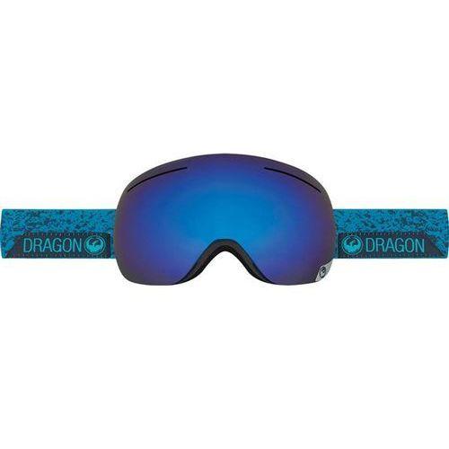 Gogle snowboardowe  - x1 - stone blue /dark smoke blue + yellow red ion (667) marki Dragon