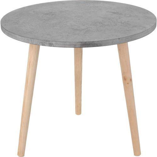 Home styling collection Stolik okazjonalny, kawowy, motyw cementu - Ø 50 cm