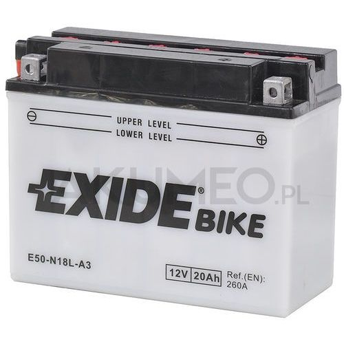 Akumulator conventional e50-n18l-a3 12v 20ah 260a prawy+ ol marki Exide