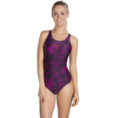 Speedo boom allover strój kąpielowy kobiety różowy/czarny de 4 / it 40 2018 stroje kąpielowe