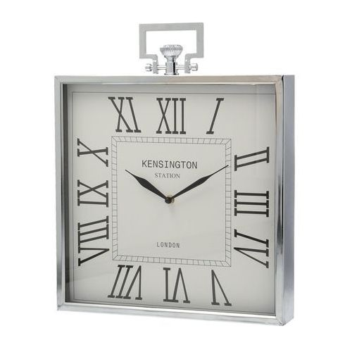 Dekoria Zegar London 35x6x43 cm Silver, 35 × 6 × 43 cm