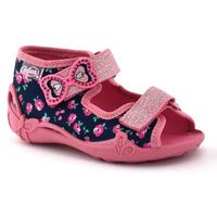 Kapcie dla dzieci Befado 242P094 Papi - Różowy ||Granatowy, kolor różowy