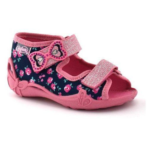 Kapcie dla dzieci Befado 242P094 Papi - Różowy   Granatowy