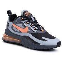 Buty NIKE - Air Max 270 React Wtr CD2049 006 Wolf Grey/Total Orange/Black, kolor szary