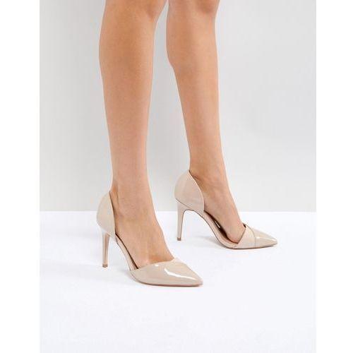 Miss kg two part detail point high heels - beige