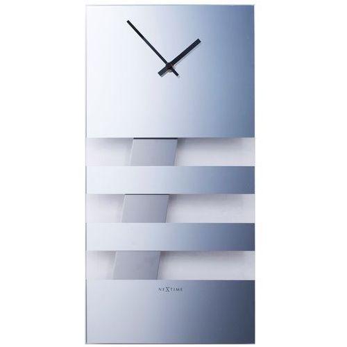 Zegar Nextime Bold Stripes 19x38 cm mirror