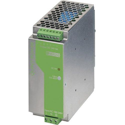 Zasilacz na szynę DIN Phoenix Contact QUINT-PS-100-240AC/24DC/5 24 V/DC 5 A 120 W 1 x, QUINT-PS-100-240AC/24DC/5