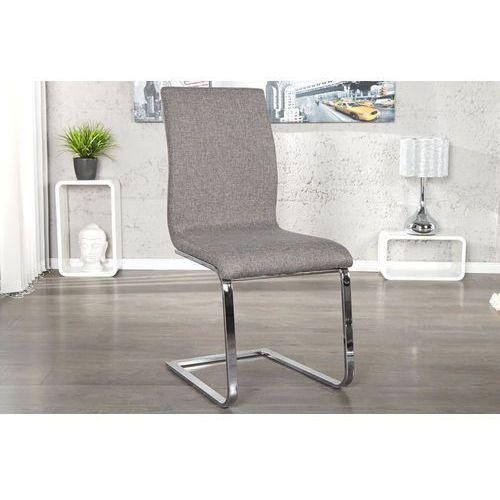 Krzesło Hamilton szare - szary, srebrny, kolor szary